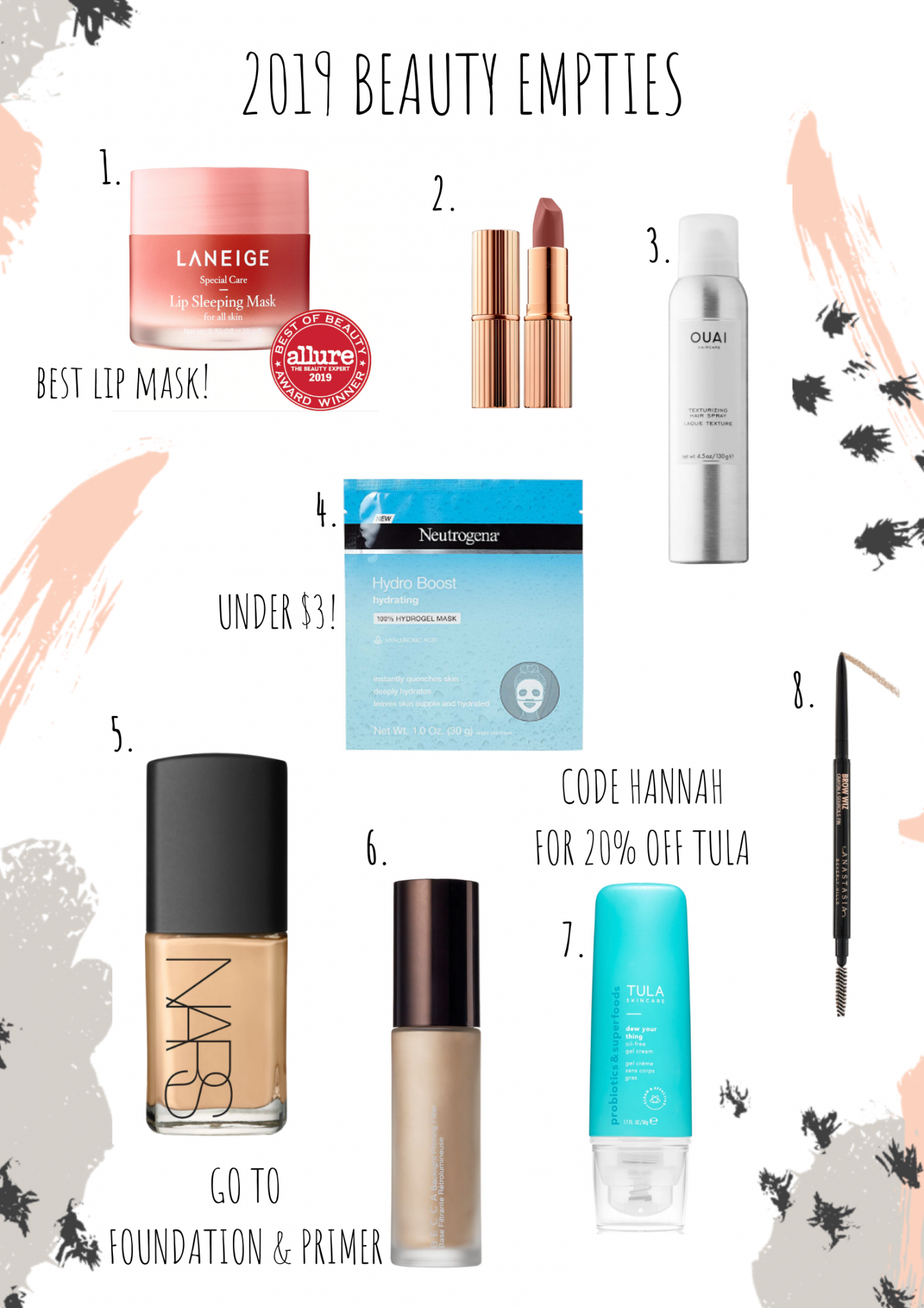 """My 2019 """"Empties"""". Beauty Products You Need to Try"""